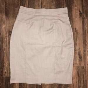 H&M Light Grey Pencil Skirt with Paneling Detail